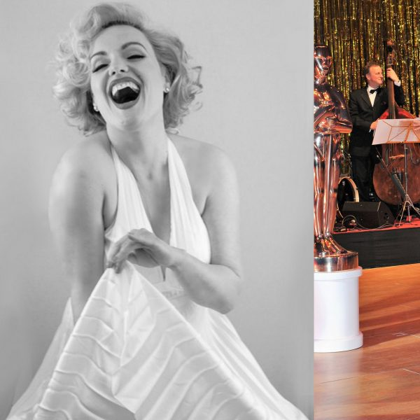 Collage von dem Marilyn Monroe Double